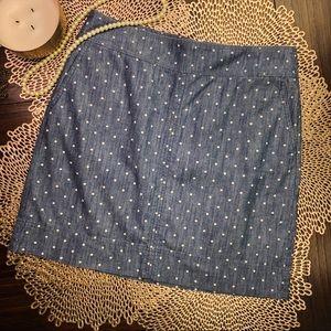 Talbots Petite Chambray Skirt